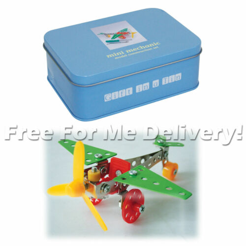 Apples To Pears Gift In a Tin Car Building Kit Mini Blocks Set **FREE DELIVERY