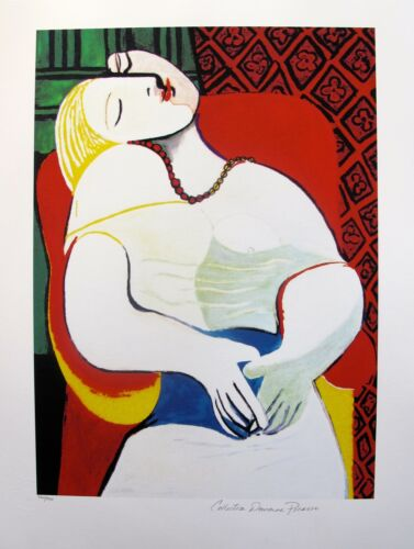 "Pablo Picasso ""THE DREAM"" Estate Signed Limited Edition Art Giclee 26"" x 20"""