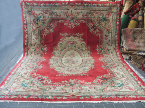 Beautiful hand-woven art deco Chinese Antiques Carpets 360x270-cm/141.7x106.2-in