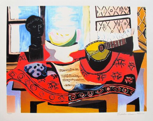 Pablo Picasso STILL LIFE WITH MANDOLIN Estate Signed Limited Edition Giclee Art