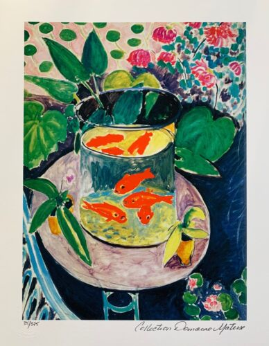 """HENRI MATISSE """"GOLDFISH"""" Estate Signed & Stamped Limited Edition Small Giclee"""