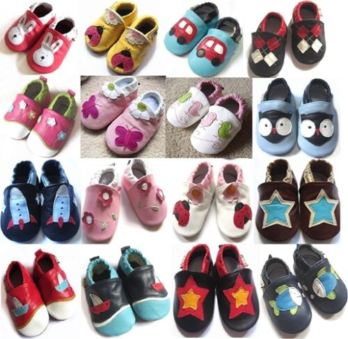 New Soft Sole 100% Leather Baby Infant Boys Girls Shoes Prewalkers Size 0,1,2 <br/> 100% fine genuine soft leather shoes, good quality!