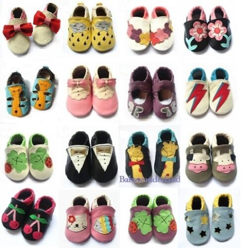 New Soft Sole Leather Baby Infant Toddler Boys Girls Shoes Prewalker Size 0,1,2 <br/> 100% fine genuine soft leather shoes, good quality!