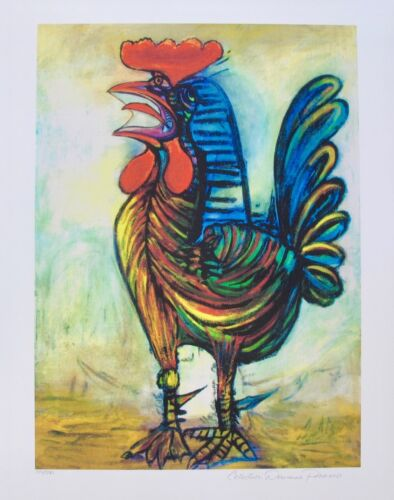 Pablo Picasso THE ROOSTER Estate Signed & Stamped Limited Edition Large Giclee