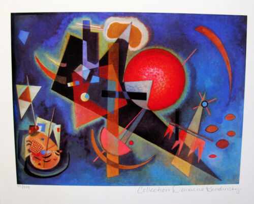 Wassily Kandinsky IN BLUE Estate Signed Small Limited Edition Giclee Art