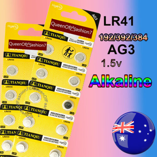 20 x LR41 Battery QueenOf7 1.5V Alkaline AG3 Blister Button Cell Batteries