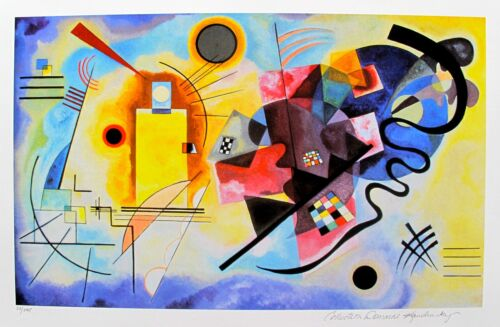 Wassily Kandinsky YELLOW RED & BLUE Estate Signed Limited Edition Art