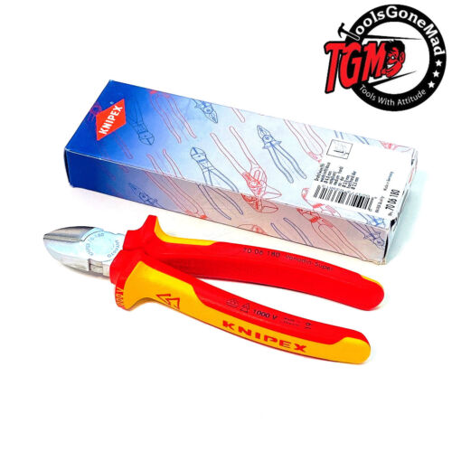 Knipex 110mm Mini Diagonal Side Cutters with Opening Spring 70 11 110