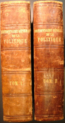 Maurice Block - Dictionnaire general de politique opera completa in 2 volumi