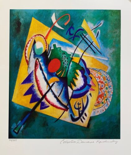 Wassily Kandinsky RED OVAL Estate Signed Limited Edition Fine Art Small Size