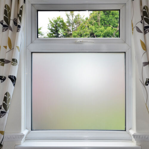 Bubble Free Frosted Window Film - Self Adhesive Etched Privacy Glass Vinyl <br/> BUBBLE FREE GUARANTEE over 31k sold on eBay!