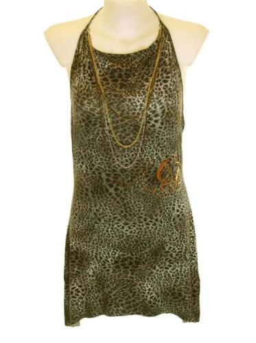 Bnwt Women's Christian Audigier 10 Necklace Halter Dress New RRP$120