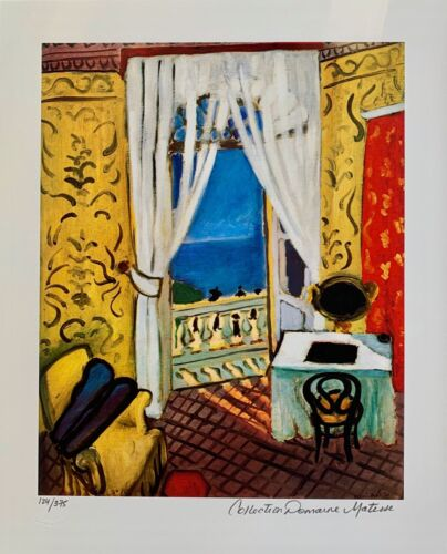 """HENRI MATISSE """"INTERIOR WITH A VIOLIN CASE"""" Estate Signed Limited Edition Giclee"""
