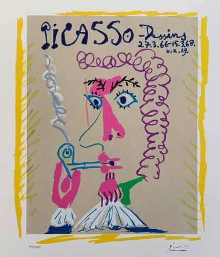 Pablo Picasso DESSINS PIPE SMOKER Facsimile Signed Limited Edition Giclee Art