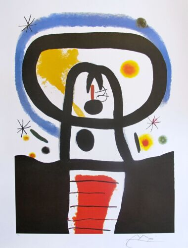 """JOAN MIRO """"EQUINOX"""" Signed Limited Edition Large Lithograph Art"""