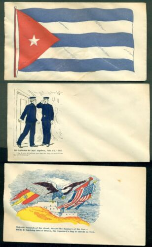 Spanish American War Patriotic covers, 6 different, unused, VF and colorfulReproductions - 156386