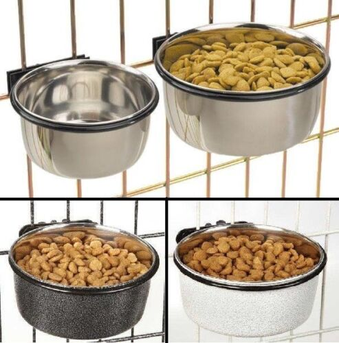 ProSelect Stainless Bowl Dog Cats Birds food or Water For Pet Cage Coop crate