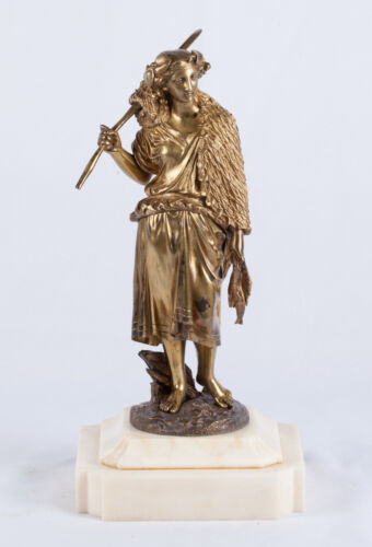 Dore Bronze Statue of Fisherwoman by Emile Boyer- French- Signed- 19th/20th C.