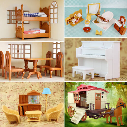 Living Bathroom / Dinning Table Miniature Furniture Set For Sylvanian Families