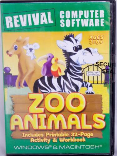 Spelling Reading Memory Matching Zoo Animals Windows Computer Game for Age 3-8+