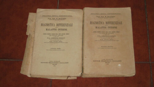 MATTHES DIAGNOSTICA DIFFERENZIALE DELLE MALATTIE INTERNE 2 VOLUMI COMPLETO 1933