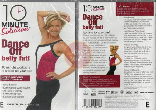 10 Minute Solution DANCE OFF BELLY FAT New DVD waist burning reduce tummy bulge