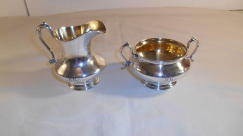 Shreve, Crump & Low Co. Sterling Silver Creamer & Sugar Bowl, 291.4 grams