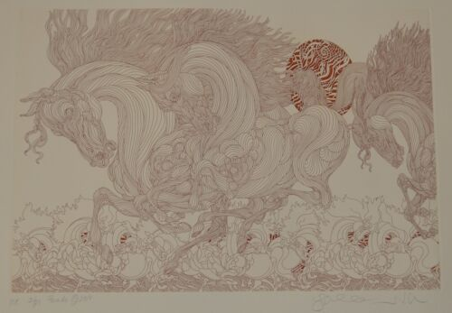 GUILLAUME AZOULAY PARADE ETCHING SIGNED #ME 21/25 W/COA AMAZING!!!!! RARE FIND