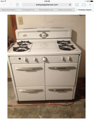 White Antique Gas stove (Grande 1909-1952)