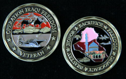 OPERATION IRAQI FREEDOM OIF CHALLENGE COIN US ARMY MARINES NAVY AIR FORCE IRAQOther Militaria (Date Unknown) - 66534