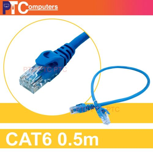 20x 50cm/0.5m Cat6  RJ45 UTP Ethernet LAN Network Data Cable Patch Lead