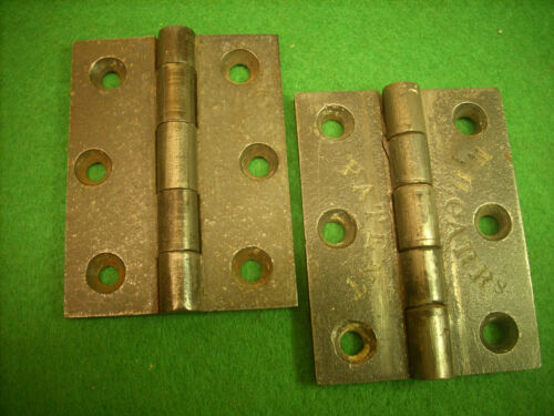 "RARE SIGNED PAIR 3"" HINGES: W. H. CARR PHILADELPHIA CIR 1850 - BEAUTIFUL  (3213)"