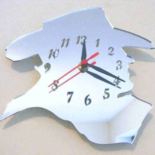 Cowboy Silhouette Clock - Acrylic Mirror (Several Sizes Available)