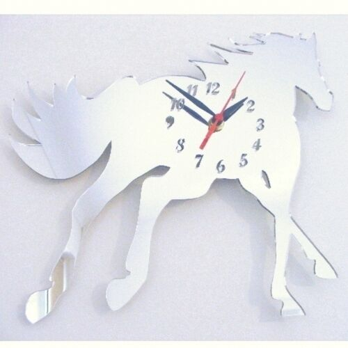 Cantering Horse Clock - Acrylic Mirror (Several Sizes Available)