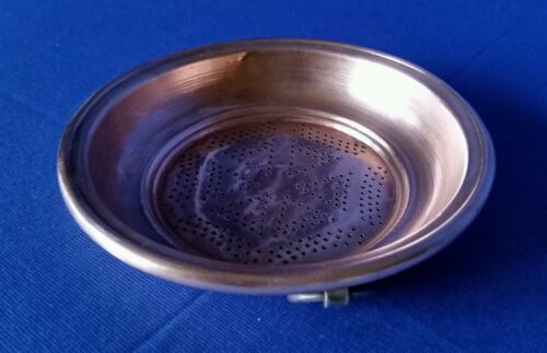 Antique Copper Sieve Colander Early 19th C Strainer Rolled Edges Punched Holes