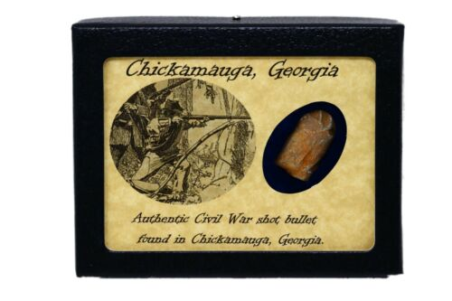 Shot Bullet Relic from The Battle of Chicamauga, GA with Display Case and COA Bullets - 103996