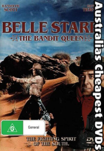 Belle Starr The Bandit Queen DVD NEW, FREE POSTAGE WITHIN AUSTRALIA REGION ALL
