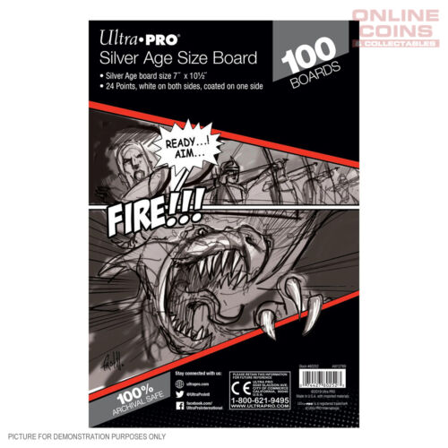 Ultra Pro Comic Series - SILVER Size Comic Backing Boards x 100