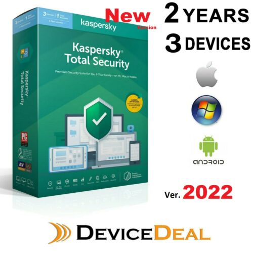 Kaspersky Total Security 3 Device 2 Year License Key 2020 Version