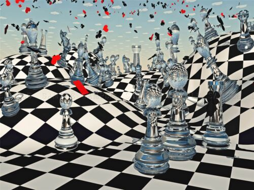 ANTASY CHESS ILLUSTRATION ILLUSTION PHOTO ART PRINT POSTER PICTURE BMP1730A
