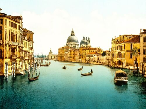 VINTAGE PHOTOGRAPHY TRAVEL GRAND CANAL VENICE ITALY ART POSTER PRINT LV4949