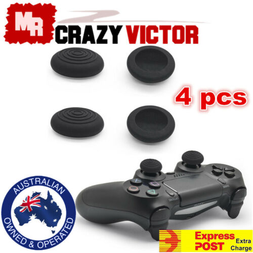 4pcs Thumb Grips PS4 Xbox One PS3 Xbox 360 Silicone TPU Gel Controller Stick Cap