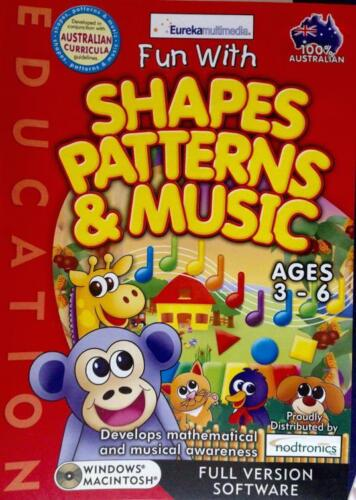 Develops Maths Awareness Shapes Patterns & Music Computer Game Age 3-6 Counting
