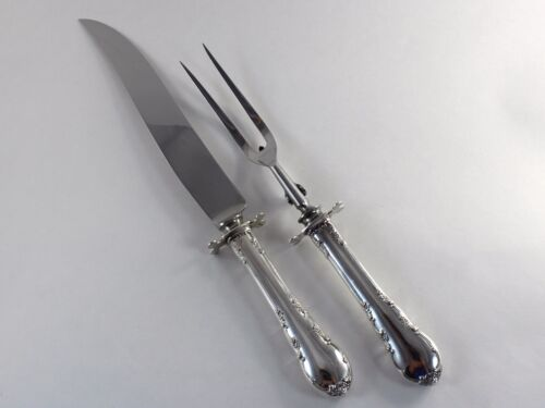 Lunt Modern Victorian Sterling Silver Large Carving Set - No Monograms