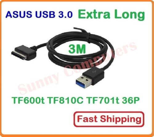 3M USB Charger Data Adapter Cable for Asus Vivo Tab RT TF810c TF600 TF701T AU