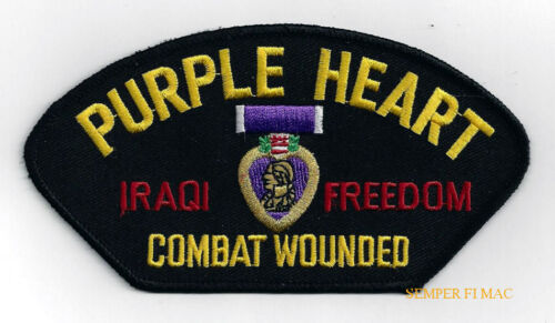 PURPLE HEART COMBAT WOUNDED OIF IRAQ HAT PATCH US ARMY MARINES NAVY AIR FORCEOther Militaria (Date Unknown) - 66534