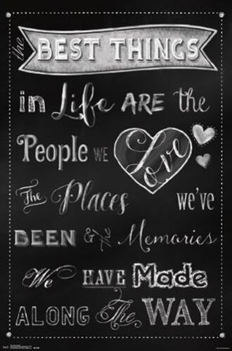 BEST THINGS - QUOTE POSTER - 22x34 INSPIRATIONAL 13851