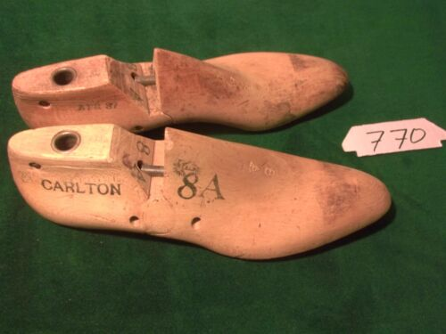 Pair Vintage 1937 Maple Wood Size 8 A CARLTON GEBL Co Shoe Factory  Last #770