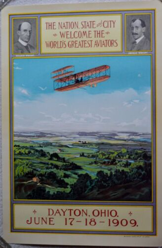 """RE SOCIETY WRIGHT BROTHERS LITHOGRAPH W/COA 21""""X31"""" AMAZING! RARE FIND!"""