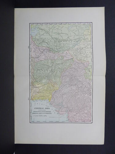 Map of Central Asia George F. Cram 1901 Double Page R9#54